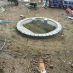 Circle block pave area for focal point
