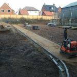 Sharp sand ready for walkway