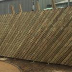 Wooden chevron fencing