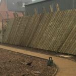 Wooden chevron fencing 2