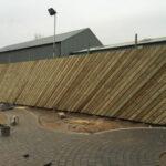 Wooden chevron fencing 3