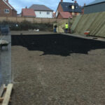 Plastic grids have been back filled with 10mm gravel 2