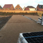 Plastic grids have been back filled with 10mm gravel