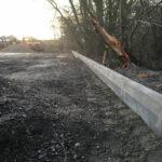 Installing full faced road kerb edgings
