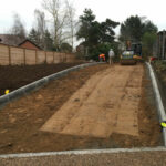 Compacting sub base for the road way