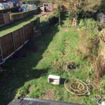 Garden area before works started - Loddon