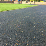 Hot tar and golden pre-coated spec driveway - Halesworth