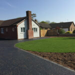 Turf area, flower bed and new tar and chip driveway - Halesworth
