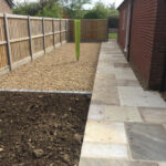 Fossil Mint pathway with new shingle bed and Charcoal Chelsea set edging - Halesworth