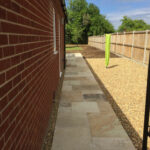 Fossil Mint pathway with new shingle bed - Halesworth