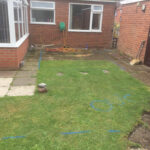 Garden area before Patio - Hingham