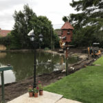 Clearing room to improve the structure of the pond