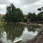 Clearing room to improve the structure of the pond 2