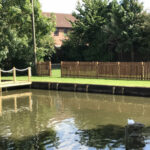 Completed pond reconstruction