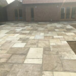 Completed Fossil Mint patio area - Old Buckenham