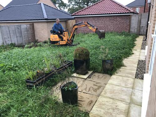 Garden area before patio work - Norwich