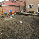 Garden area removed to reduce levels - Norwich