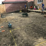 Planning out the patio area - Norwich
