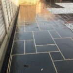 Black Limestone slabs with channel drainage - Norwich
