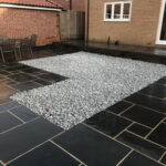 Bed of 50mm Blue Ice Cobbles - Norwich