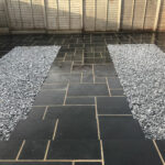Black Limestone paving steps - Norwich