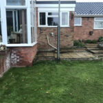 Garden area before decking - Chedgrave, Norfolk