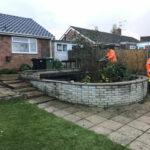 Pond area being trimmed - Chedgrave, Norfolk