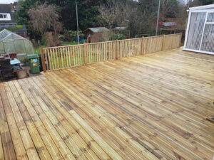 Decking area all finished ready for the summer - Chedgrave, Norfolk