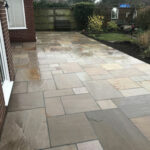 Raveena Indian sandstone patio area - Great Hockham, Norfolk