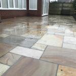 Finished Raveena Indian sandstone patio - Great Hockham, Norfolk
