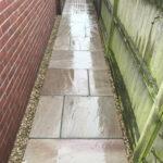 Raveena Indian sandstone pathway 2- Great Hockham, Norfolk