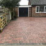 Burnt Amber block weave driveway with Charcoal edging - Stalham, Norfolk