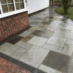 Grey Indian sandstone patio - Stalham, Norfolk