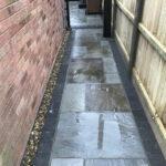 Grey Indian sandstone pathway - Stalham, Norfolk