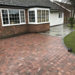 Burnt Amber block weave driveway with drainage cover - Stalham, Norfolk