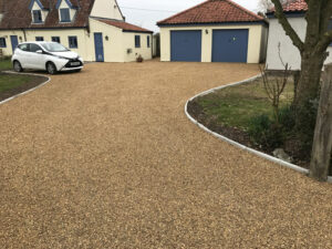 Completed hot tar and shingle driveway - Seething, Norfolk