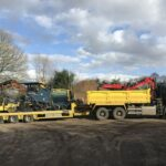 Pavior ready to lay the tarmac - Norwich