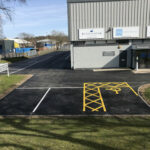 Finished car park with bays- Norwich