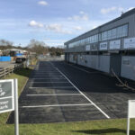 Finished car park ready for parking - Norwich