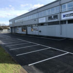 Finished car parking area - Norwich