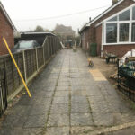 Driveway before works - Mulbarton, Norfolk