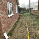 Pathways removed - Mulbarton, Norfolk