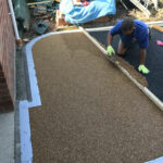 Laying the resin bound driveway - Mulbarton, Norfolk