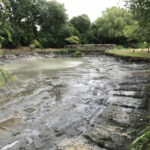 Pond cleared from silt and sludge - Norfolk