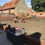 Levelled area ready for turf - Norfolk