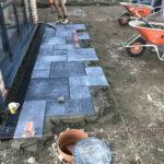 Laying Charcoal Limestone patio - Norfolk