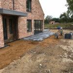 Laying Charcoal Limestone patio 2 - Norfolk