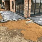 Laying Charcoal Limestone patio 3 - Norfolk