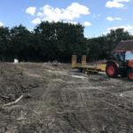 Preparing to dig over field - Norfolk