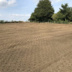 Prepared soil for grass seed and wildflower mixture 2 - Norfolk